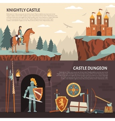 1608i105030Sm005c11heraldic knight banners vector image