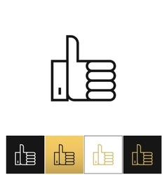 Thumb up symbol or best choice icon vector
