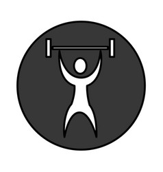 Human figure weight lifting vector