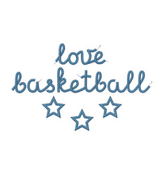 Love basketball decoration vector
