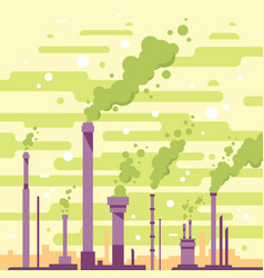 Industrial pipes with smoke vector