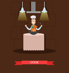 Cook in flat style vector