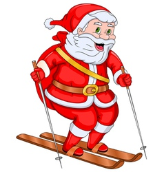 Santa claus skiing vector