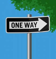 Roadsign-oneway vector