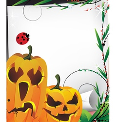 Cute pumpkin monsters vector