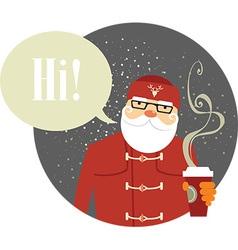 Santa Claus hipster vector image