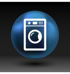 Washing machine icon laundromat clothing vector