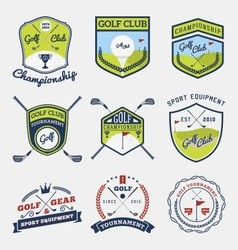 Set of golf club emblem vector