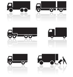 truck or van symbol set vector image