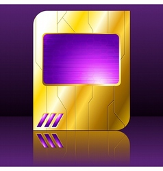 Purple and gold futuristic sign vector