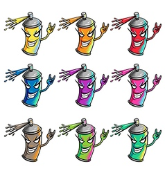 Spray paint colors vector