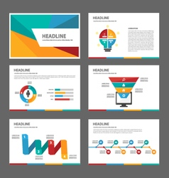 Colorful set presentation templates infographic vector