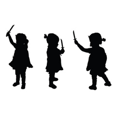 Child with swords set vector