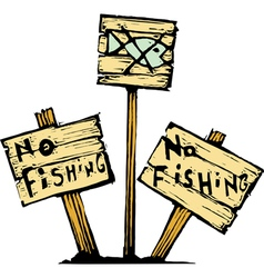 No Fishing vector image