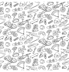 Extreme doodle seamless pattern vector