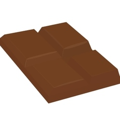 Chocolate bar isolated on white vector image