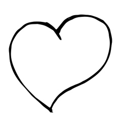 Love heart sign on white background doodle vector