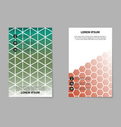 Abstract composition business card set geometric vector