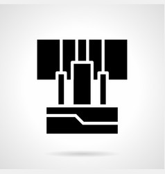 Amplifier input wires glyph style icon vector