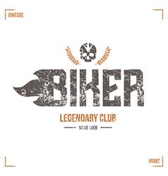 Biker club emblem vector