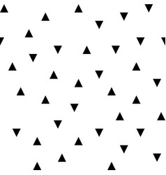 Black random triangles seamless pattern vector