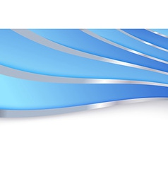 Blue folder template metal borders vector image