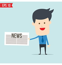 Business man show news board vector image