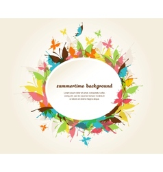 butterflies background design vector image