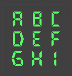 Calculator digital green text vector