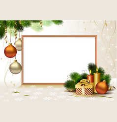 Christmas greeting- card vector image vector image
