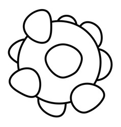 coronavirus icon outline style vector image
