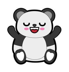 Cute bear kawaii cartoon vector