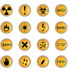 danger theme icons vector image