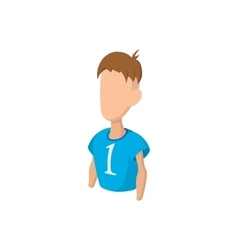 Footballer cartoon icon vector image