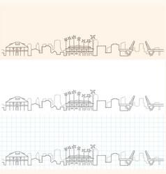 Fort lauderdale hand drawn skyline vector