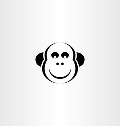 funny monkey icon vector image vector image