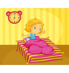Girl waking vector image vector image