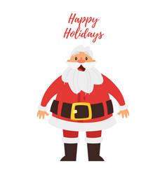 Greeting card with santa claus vector