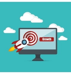 Growth business concept star up target vector