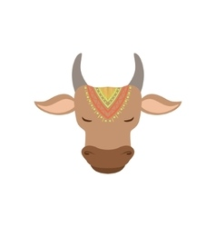 Head of indian holy cow vector