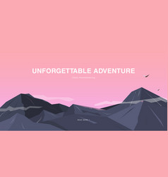 horizontal background with mountains vector image