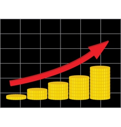 increase of income vector image vector image