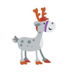 Little toy horse isolated on white cute deer vector