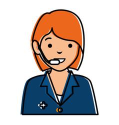 Medical call center operator vector