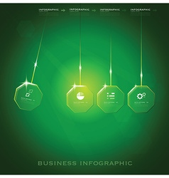 Modern octagon business infographic background vector