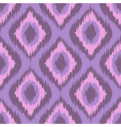Pink tradition ikat ornament zig zag gradient vector