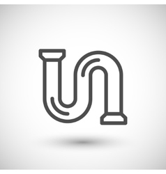 Pipe line icon vector