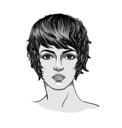 Portrait of a young woman vector image vector image