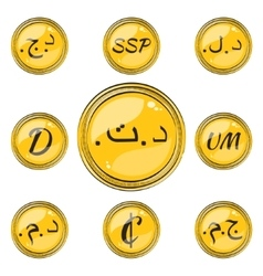 Set with northern and western africa flat currency vector