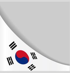 South korean flag background vector